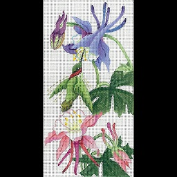 click here to view larger image of Columbine EGC (hand painted canvases)
