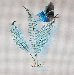 click here to view larger image of Boston Fern (hand painted canvases)