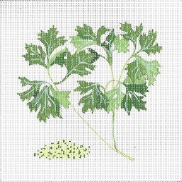click here to view larger image of Botanical Spice Tile - Parsley (hand painted canvases)