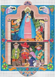 click here to view larger image of Fiesta De Madonna (hand painted canvases)