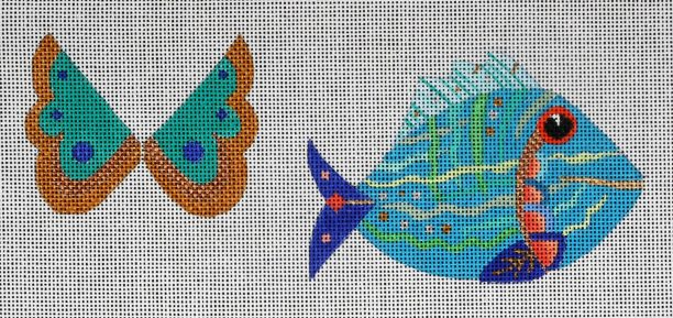 click here to view larger image of Angelfish A (hand painted canvases)