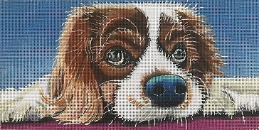 click here to view larger image of Puppy Eyes (hand painted canvases)