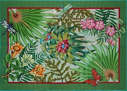 click here to view larger image of Rainforest Rug (hand painted canvases)