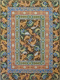 click here to view larger image of Border Rug (hand painted canvases)