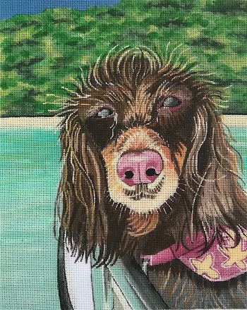click here to view larger image of Bella (hand painted canvases)