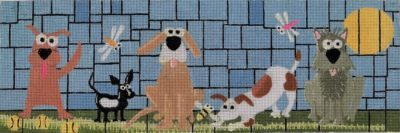 click here to view larger image of Dog Park (hand painted canvases)
