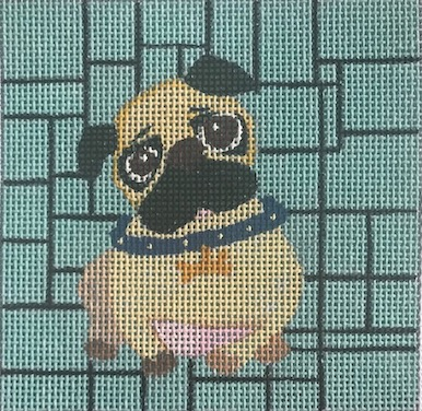 click here to view larger image of Pug (hand painted canvases)