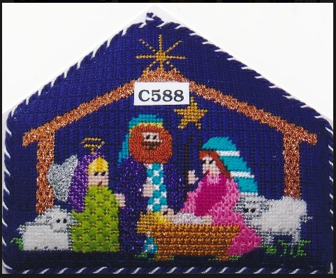 click here to view larger image of Bethlehem Baby (hand painted canvases)