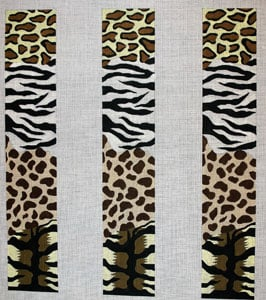 click here to view larger image of Animal Skins Collage (hand painted canvases)