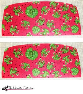 click here to view larger image of Frogs on Pink (hand painted canvases)