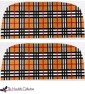 click here to view larger image of Preppy Plaid (hand painted canvases)