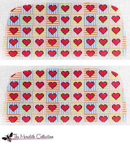 click here to view larger image of Candy Hearts (hand painted canvases)