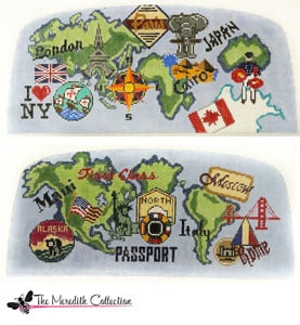 click here to view larger image of International Travel (hand painted canvases)