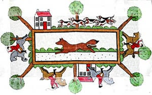 click here to view larger image of English Hunt (hand painted canvases)