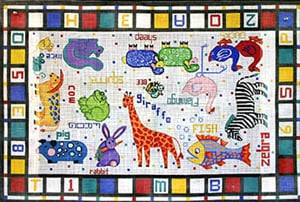 click here to view larger image of Child's Alphabet Blocks and Animals (hand painted canvases)
