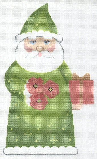 click here to view larger image of August Birthstone Santa (hand painted canvases)