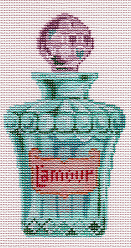 click here to view larger image of L'amour Perfume Bottle (hand painted canvases)