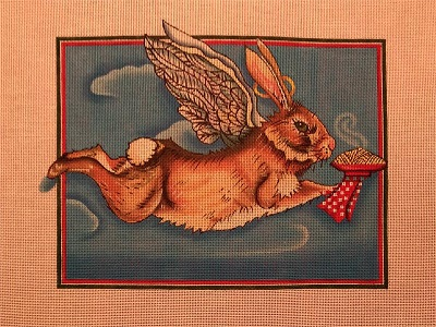 click here to view larger image of Angel Hare Pasta (hand painted canvases)