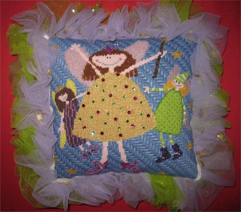 click here to view larger image of Angel Tooth Fairy Pillow (hand painted canvases)