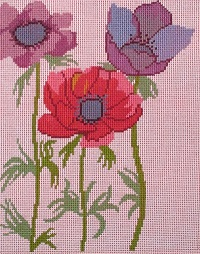 click here to view larger image of Anemonies (hand painted canvases)