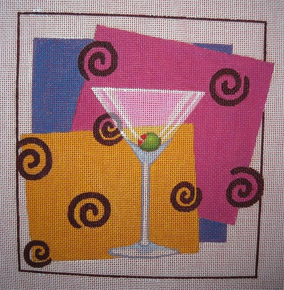 click here to view larger image of Shaken and Not Stirred (hand painted canvases)