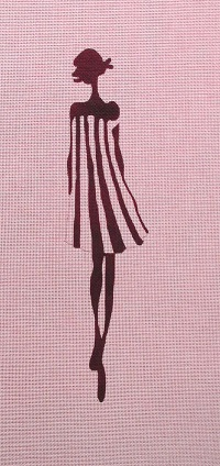 click here to view larger image of Black & White Stripe Fashion (hand painted canvases)