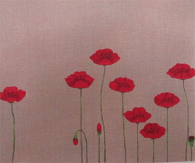 click here to view larger image of Field of Poppies (hand painted canvases)