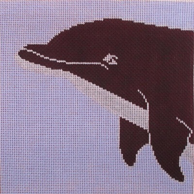 click here to view larger image of Coastal Dolphin (hand painted canvases)