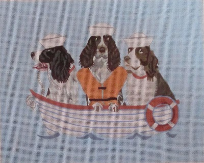 click here to view larger image of All Paws - Springers (hand painted canvases)