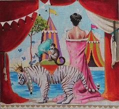click here to view larger image of Siberian Tiger / Monkey / Lady / Tents (hand painted canvases)