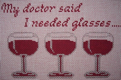 "click here to view larger image of ""My Doctor Said..... (hand painted canvases)"