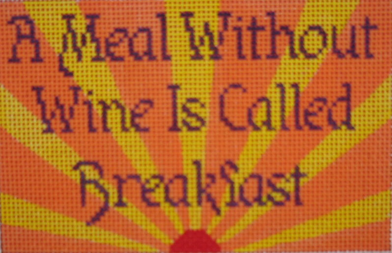 click here to view larger image of A Meal Without Wine (hand painted canvases)