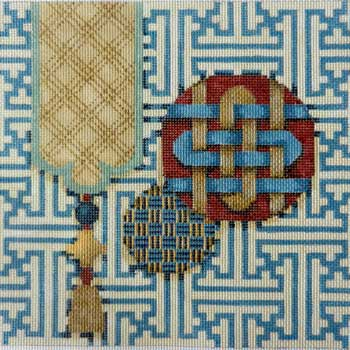 click here to view larger image of Fretwork / Tassels / Buttons #2 (hand painted canvases)