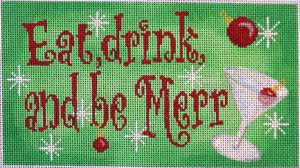 click here to view larger image of Eat Drink & Be Merry Sign (hand painted canvases)