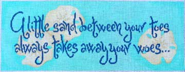 click here to view larger image of A Little Sand Between...... (hand painted canvases)