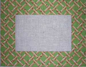 click here to view larger image of Woven Bamboo Picture Frame (hand painted canvases)