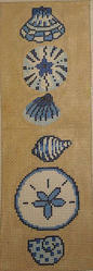 click here to view larger image of Blue Shells Eyeglass Case (hand painted canvases)