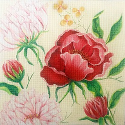 click here to view larger image of Tulip Blossoms (hand painted canvases)