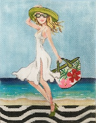 click here to view larger image of Beach Attire (hand painted canvases)