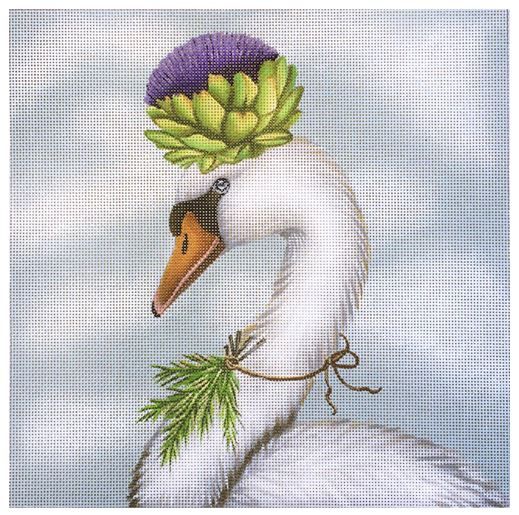 click here to view larger image of Artichoke Swan (hand painted canvases)