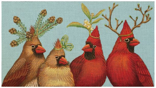 click here to view larger image of Cardinals (hand painted canvases)
