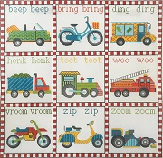 click here to view larger image of Transportation Sounds (hand painted canvases)