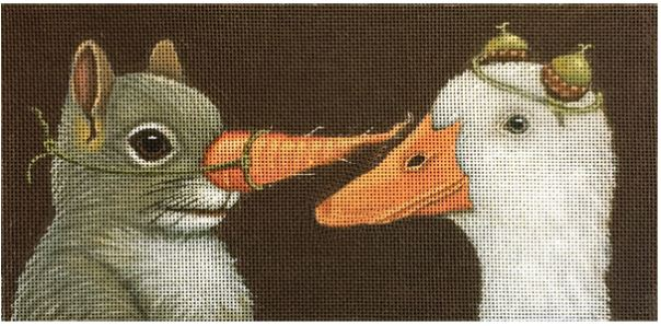 click here to view larger image of Carrot Nose and Duck (hand painted canvases)