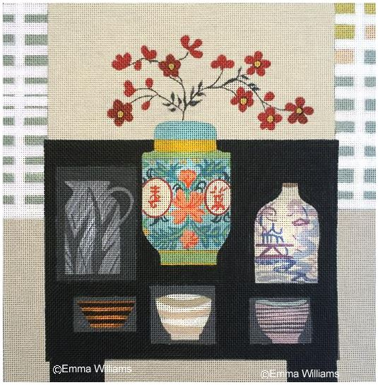 click here to view larger image of Chinese Jars (hand painted canvases)
