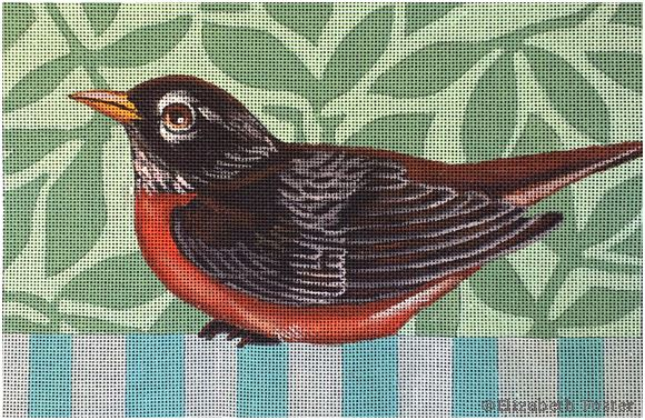click here to view larger image of Robin (hand painted canvases)