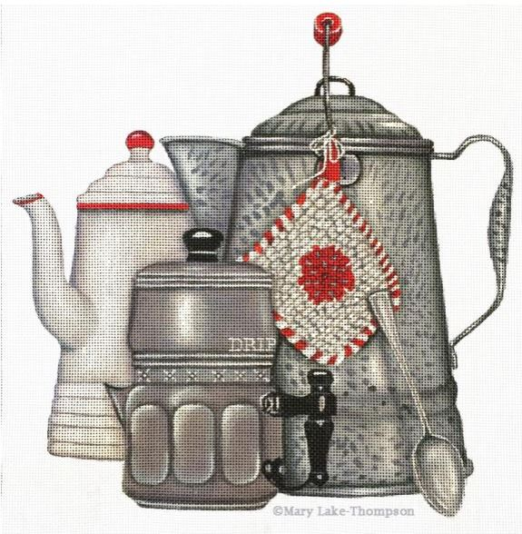 click here to view larger image of Coffee Pots (hand painted canvases)