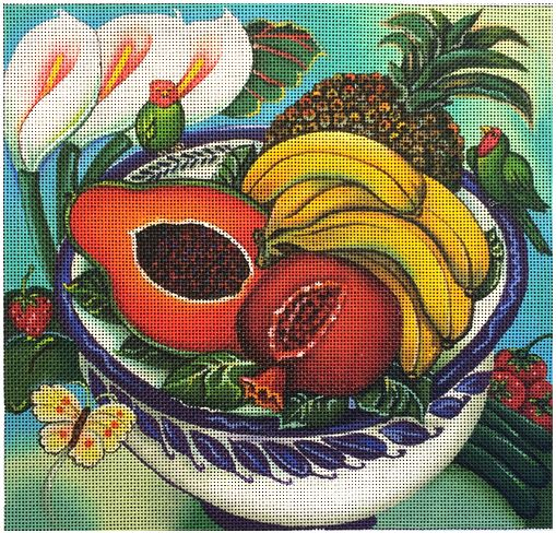 click here to view larger image of Fruit Bowl (hand painted canvases)
