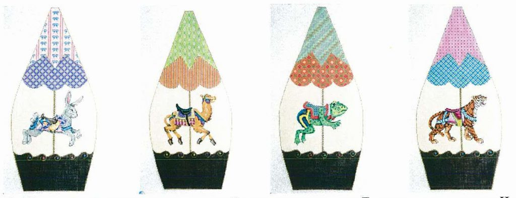 click here to view larger image of Carousel II (hand painted canvases)