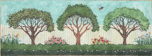 click here to view larger image of Bee's Garden Side (hand painted canvases)