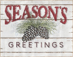 click here to view larger image of Season's Greetings (hand painted canvases)